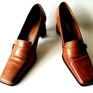 Enzo Angiolini Eabalino Brown Leather Loafer 6.5